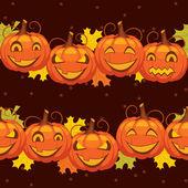 Vector naadloze achtergrond halloween pompoen — Stockvector