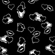 Vector pattern heart — Image vectorielle