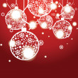 Vector Christmas banner with Christmas balls — Stock Vector #33078201