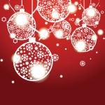 Vector Christmas banner with Christmas balls — Stock Vector
