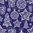 Stock Vector: Christmas seamless pattern with decorative elements