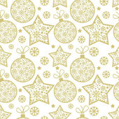 Christmas seamless pattern with decorative elements — Stock Vector