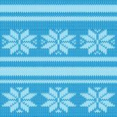 Vector seamless pattern knitting — Stock Vector