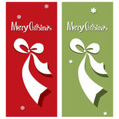 Vector Merry Christmas card with bow — Stock Vector