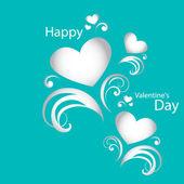 Vector card Happy Valentine's Day — Stock Vector