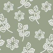 Vector seamless pattern of green leaves — Stock vektor