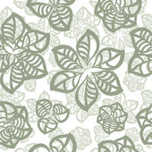 Vector seamless pattern of green leaves — Vector de stock