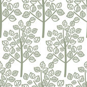 Vector seamless pattern of green leaves — Stok Vektör