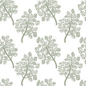 Vector seamless pattern of green leaves — Vetorial Stock