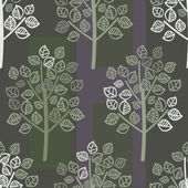 Vector seamless pattern of green leaves — Stockvector