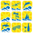 Summer icons — Stock Vector #9479044