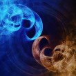 Abstract hot and cold background - Foto Stock