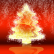 Stock Photo: Abstract gold christmas tree