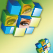 Eye Cube — Stock Photo