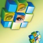 Eye Cube — Stock Photo #26651299