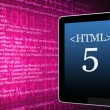 HTML5 And Mobile Device — Stock Photo