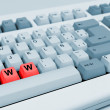 "Gray keyboard with red letters ""WWW"" — Stock Photo #26652903"