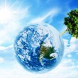 Stock Photo: Tree on planet