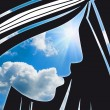 Stock Photo: Face in sky abstraction