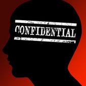 Confidential concept — Stock Photo