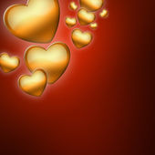 Abstract background with hearts of love — Stock Photo