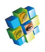 Eye Cube — Stock Photo