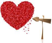 Hart valentines — Stockfoto