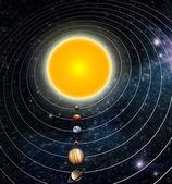 Słoneczna systemu — Zdjęcie stockowe