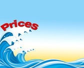 Prices on the waves — Stock Photo
