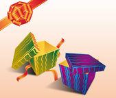 Barevné dárkové boxy — Stock fotografie