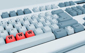 "Gray keyboard with red letters ""WWW"" — Stock Photo"