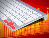Arrows cursor control buttons of keyboard on white background - logo — Stock Photo