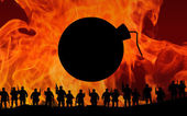 Oorlog abstractie — Stockfoto