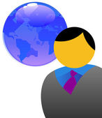 Man and the world — Stock Photo