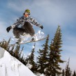 Snowboarder jumping — Stock Photo #39415043