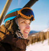 young snowboarder girl — Stock Photo