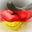 Thumbs Up for German flag for Irish pride — Stock Photo
