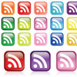 RSS Icon set — Stock Vector #8620294
