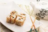 Sushi e tè — Foto Stock