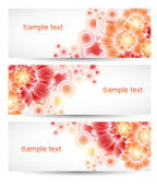 Abstract vector headers with place for your text — Stock Vector