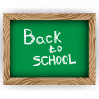 Stock Vector: Chalkboard Back to School isolated on white
