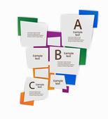 Infographic banner vector design — Stock Vector