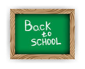 Chalkboard Back to School isolated on white — Stock Vector