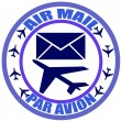 Stok Vektör: Air mail