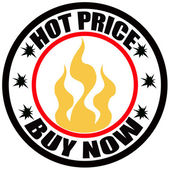 Hot price — Stock Vector