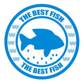 Mejor pescado — Vector de stock