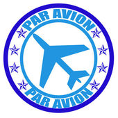 Par avion — Vector de stock