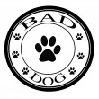 bad dog — Stock Vector