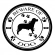 Stock Vector: Beware of dogs