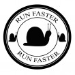 Stock Vector: Run fast